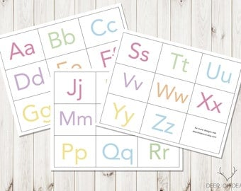 Printable ABC cards