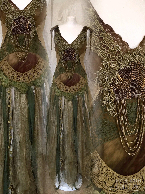 Alternative Wedding Dress Elven Lookboho Wedding Dress Out