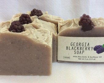 Georgia Blackberry Soap featuring Shea Butter and Organic Sunflower Oil