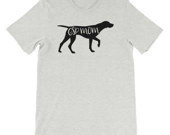 GSP mom shirt, GSP mom, GSP, German shorthair, German shorthaired pointer, Pointing dog, Hunting dog, Gsp shirt, Gsp clothes, Dog mom, Dog m