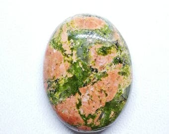 1 cabochon UNAKITE 29x21x7mm shape oval natural stone