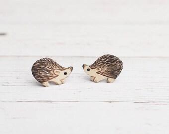 Hedgehog Stud Earrings Hedghogs Earrings Miniature
