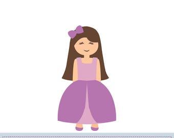 PDF Princess Applique Pattern, Princess Applique Template, DIY, Children, Instant Download Digital Pattern