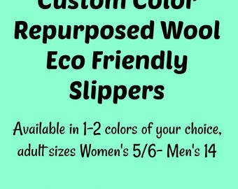 Custom Slippers- Choose Your Color- Valentine Gift- Cozy Gifts- Gift for Men- Mom Gift- Dad Gift- Teen Gift- Husband Gift- Wife Gift