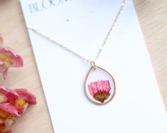 Pink Chrysanthemum Necklace