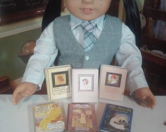 """Printable Anne of Green Gables Books for 18"""" Dolls like American Girl Doll Accessories School Supplies"""