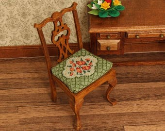 Cross Stitch Dollhouse Chair Kit Petit Point Dining Room