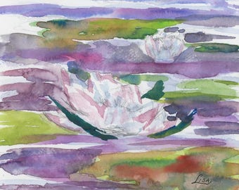 Waterlily 2 - Original Watercolor