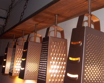 Farmhouse Lighting - Grater Chandelier - Modern Ceiling Light - Industrial Chandelier - Dining Fixture - Grater Light