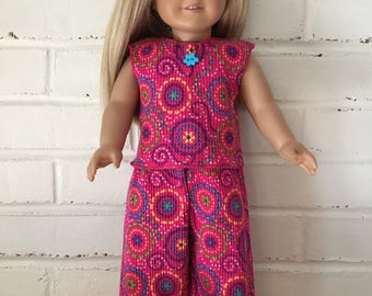 American Girl Doll clothing - Hot Pink Pajama Set