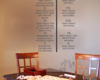The Ten Commandments Wall Decals Wall Decal Wall Vinyl Wall Decor
