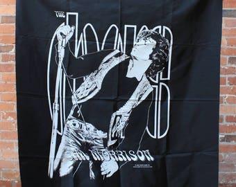 The Doors Original 1988 NOS Jim Morrison Rock Banner Flag