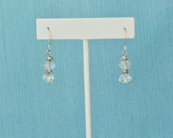 Angel Aura Faceted Quartz .925 Sterling Silver Earrings Set