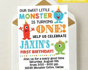 Little Monster Birthday Invitation / Monster Invitation / Monster Birthday Invitation / Monster Birthday Party / Monster Birthday / Any Age