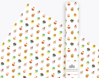 Cupcake Wrapping Paper, Gift Wrap