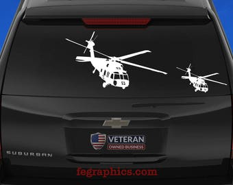 UH-60 Black Hawk - Dustoff MedEvac - Angle 1 - Vinyl Decal / Sticker