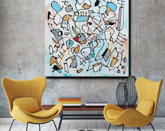 Desert Sky - Large Original Unique Contemporary Abstract Modern Painting Fine Art by Merv