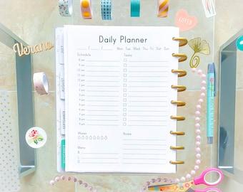 DAILY PLANNER Inserts Happy Planner Inserts Organizer Printable Planner To Do Daily Agenda Schedule Water checklist PDF Instant Download