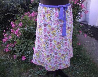 Flowersummerskirt - rosa bleu Skirt - Skirt  XL - Skirt Size 44- 46 - Georgetteskirt - Midi skirt