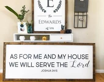 Unique Wedding Gift, Housewarming Gift, Family Last Name Sign, Farmhouse Style Sign, Customized Family Name Sign, Custom Family Sign