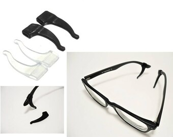Eyeglass Arm Grips ∫ Sports Eyewear Ear Grip ∫ 1 Pair Soft Silicone Anti-Slip Arms ∫ Eye Glasses Grip Ear Hook Holder ∫ Behind The Ear Grips