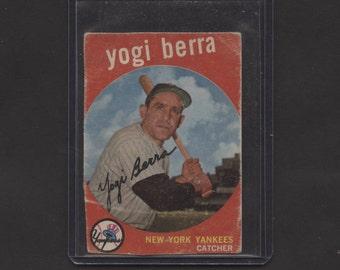 1959 Topps Baseball Yogi Berra #180 New York Yankees