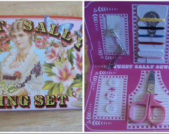 Sewing kit travel sewing kit carry sewing kit small sewing kit sweet Sally sewing kit vintage style sewing kit