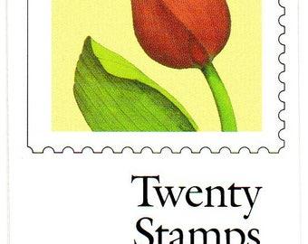 29 cent Tulip Flower Postage Stamp Booklet - 1991