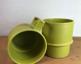 Vintage Green Tupperware Travel Mugs