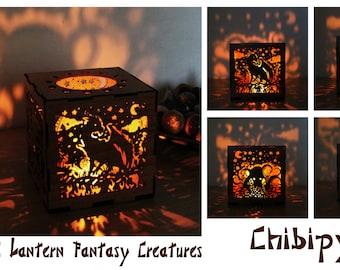 Fantasy creatures Lantern hardboard