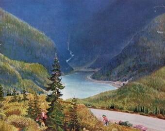 "1955 ""Blueberry Hill"" - John Clymer Art - Family Picking Wild Blueberries - 1950's Saturday Evening Post Magazine Cover - Retro Art"