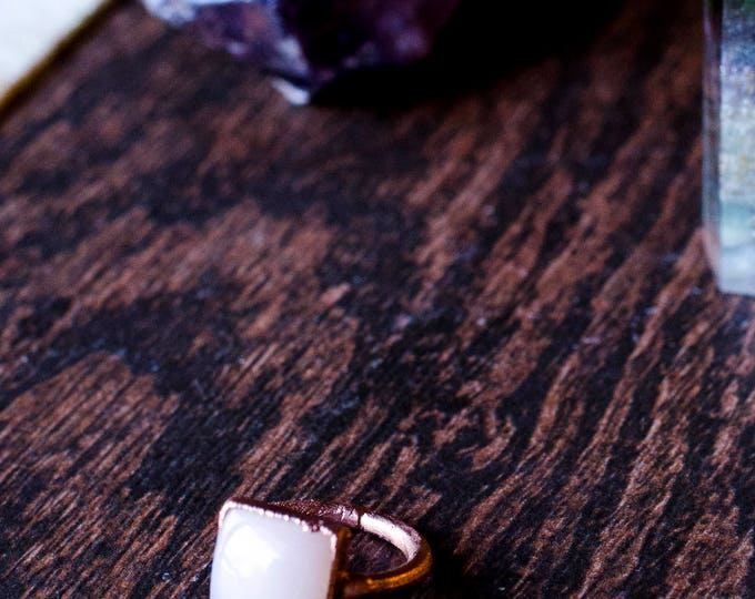 Square Moonstone Ring Size 4 3/4