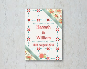 Summer Picnic Wedding Invitation