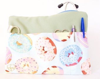Stethoscope BAG + Charm.Medical Student. Nurse Bag. RN. Nursing Student. Nurse Gift. Nurse Pouch. Donuts Pouch.Cardiology Gift. Doctor Gift