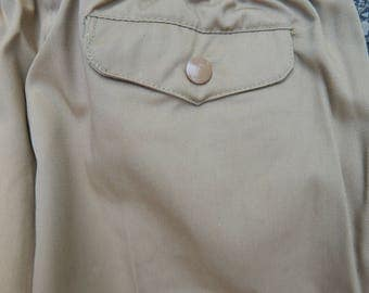 80s youth boys tan khaki pants, Mike's Athletic Club, elastic waist