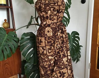 RESERVED FOR MM - 1950's Kamehameha Sarong Dress
