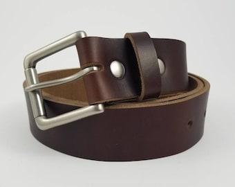 Dark Brown Chromexcel Horween Leather Belt - 1.5'' W