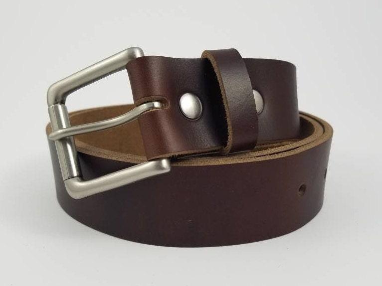brown chromexcel horween leather belt 1 5