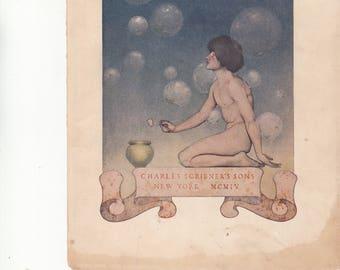 Authentic Antique Print Circa 1900-1910--Maxfield Parrish-Wonderul Fantasy