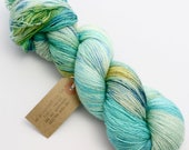 Hand Dyed Lace Yarn - Shimmer - Icy Wasteland - Bluefaced Leicester & Silk Lace Yarn 800 metres