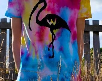 The Grim Flamingo Tie Dye Tee