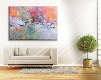Modern Art Abstract Painting Diptych Original Canvas