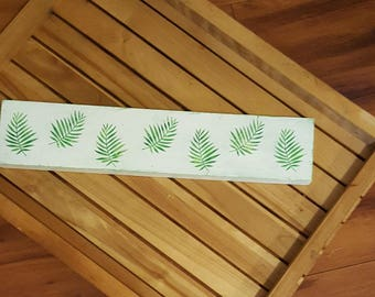 Palm Fronds Wood SIgn