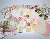 RESERVED Anna Griffin Greeting Cards with Sentiments, DIY Card Kit with Embellishments Foil, Set of 4 Blank Cards+bonus die cuts