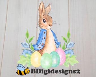 Peter Rabbit Easter Heat Press Transfer