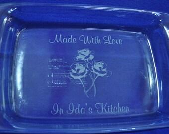 Christmas Gift For Friend ~ Christmas Gifts ~ Engraved Baking Pan ~ Engraved Gift ~ Teacher Gift ~ Great Gift For Her ~ Custom Bake Ware ~