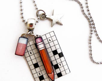"Pendant ""vivid crossword"""