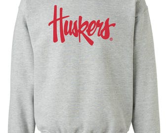 Nebraska Cornhuskers Legacy Script Huskers Crewneck Sweatshirt Nebraska Husker Gear And Game Day Nebraska Husker Fleece Apparel By CornBorn