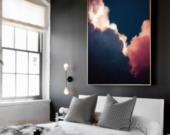Abstract Art, Cloud Painting Print , Cloud Print , Cloudscape Art Print , Large Wall Art , Abstract Wall Art , Modern Painting , Cloud Art
