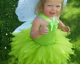 Tinkerbell costume, Tinker bell costume, Fairy Tutu Dress, Lime Green Tutu, Tinker Bell Tutu Dress, Tinkerbell Tutu Dress, Fairy Costume,